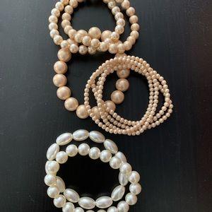 Mixed Pearl Bracelets